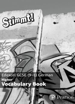 Stimmt! Edexcel GCSE German Higher Vocab Book (pack of 8) - Melissa Weir