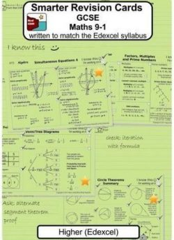 Smarter Revision Cards - GCSE Maths 9-1 Higher (Edexcel): Written to match the Edexcel Higher syllabus - Valerie Redcliffe